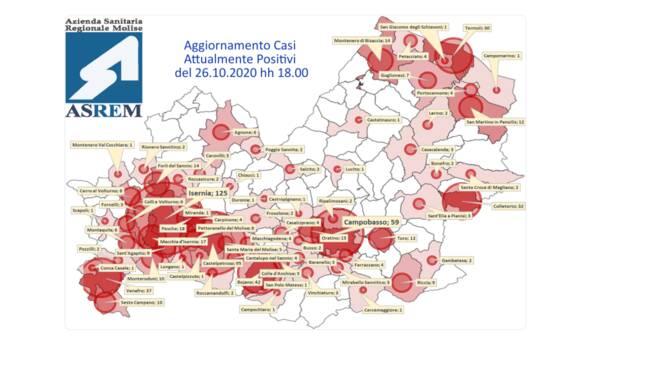 mappa contagi 26 ottobre