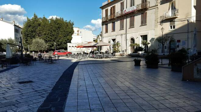 Isernia piazza san Pietro celestino