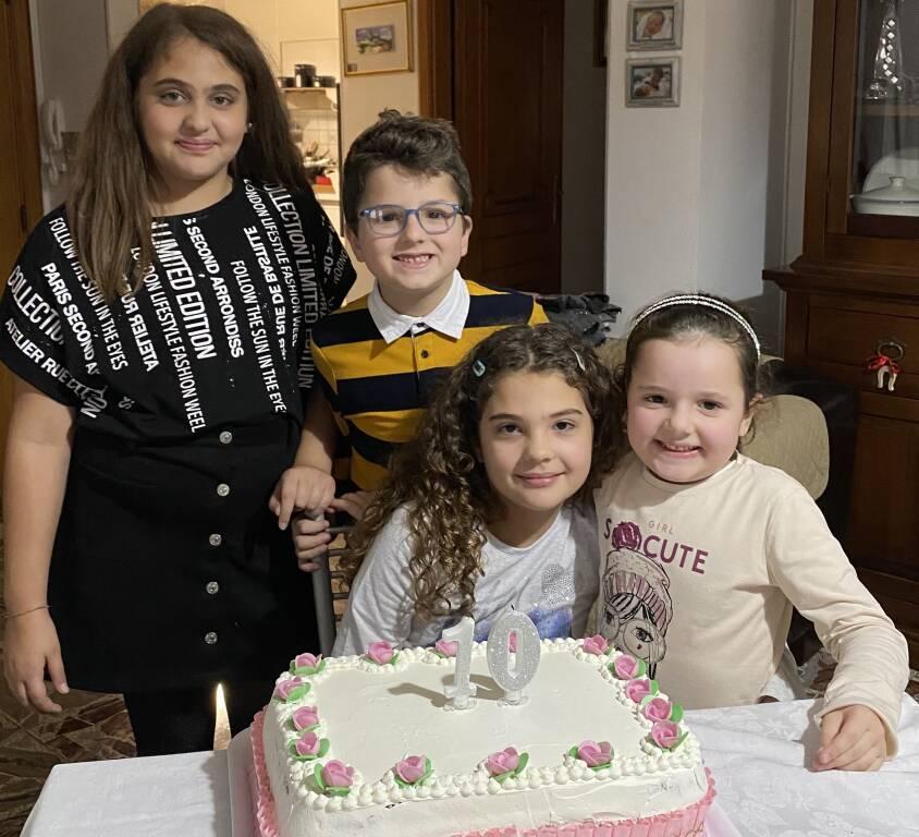 Auguri Francesca per i tuoi 10 anni