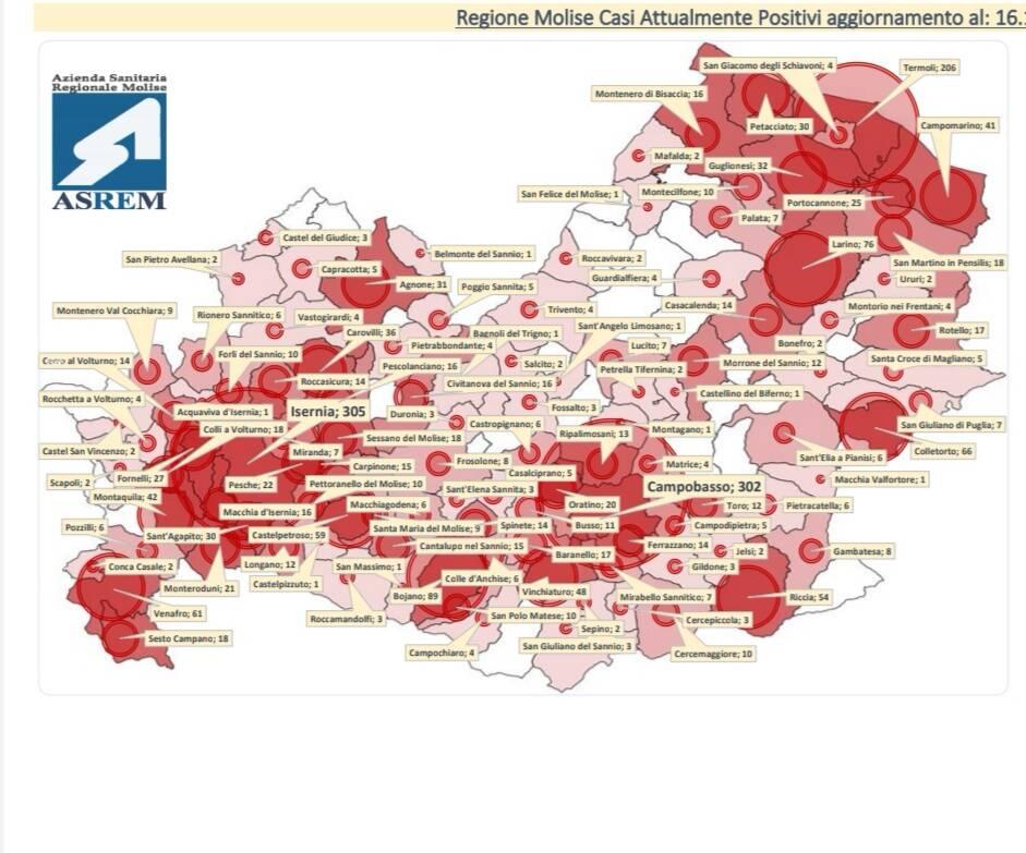 Cartina contagi