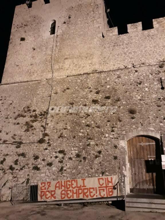 Campobasso striscione tifosi angeli san Giuliano Castello Monforte
