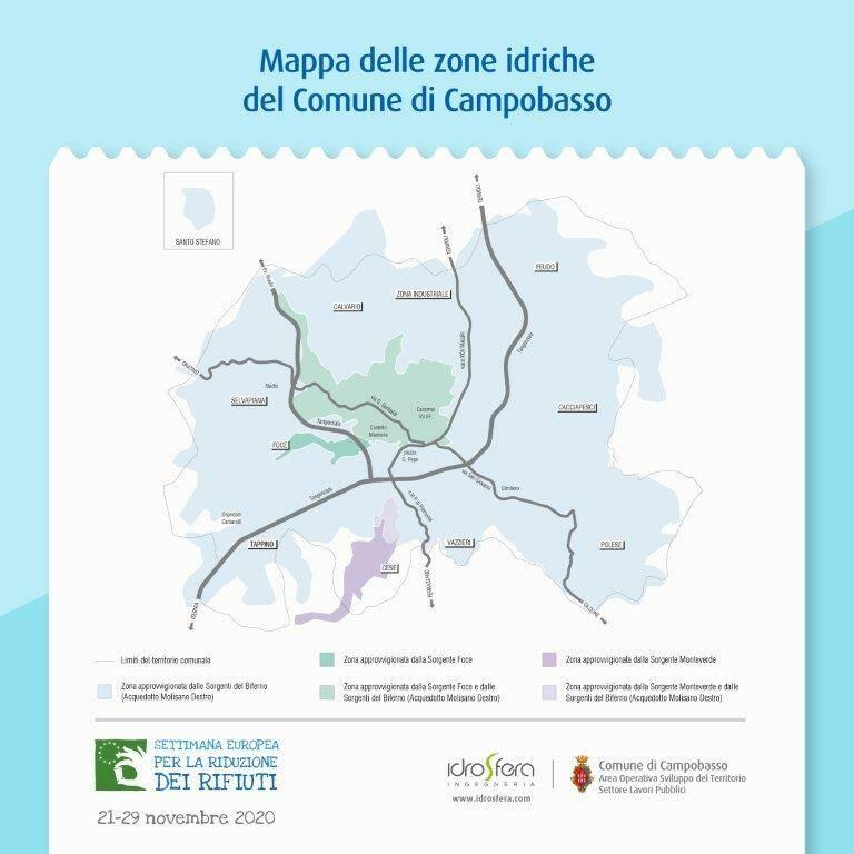 Mappa rete idrica campobasso