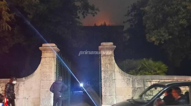 Incendio villa Campobasso