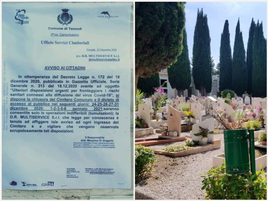 Cimitero chiuso a natale