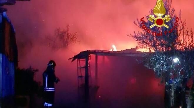 vigili del fuoco baracca campomarino