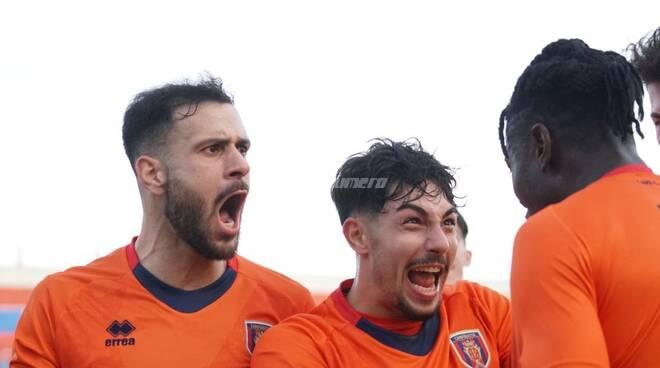Esultanza Dalmazzi Campobasso Calcio