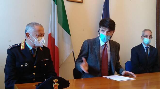 Campobasso conferenza stampa Gravina dirigenti comune De Marco Iacovelli Greco Sardella