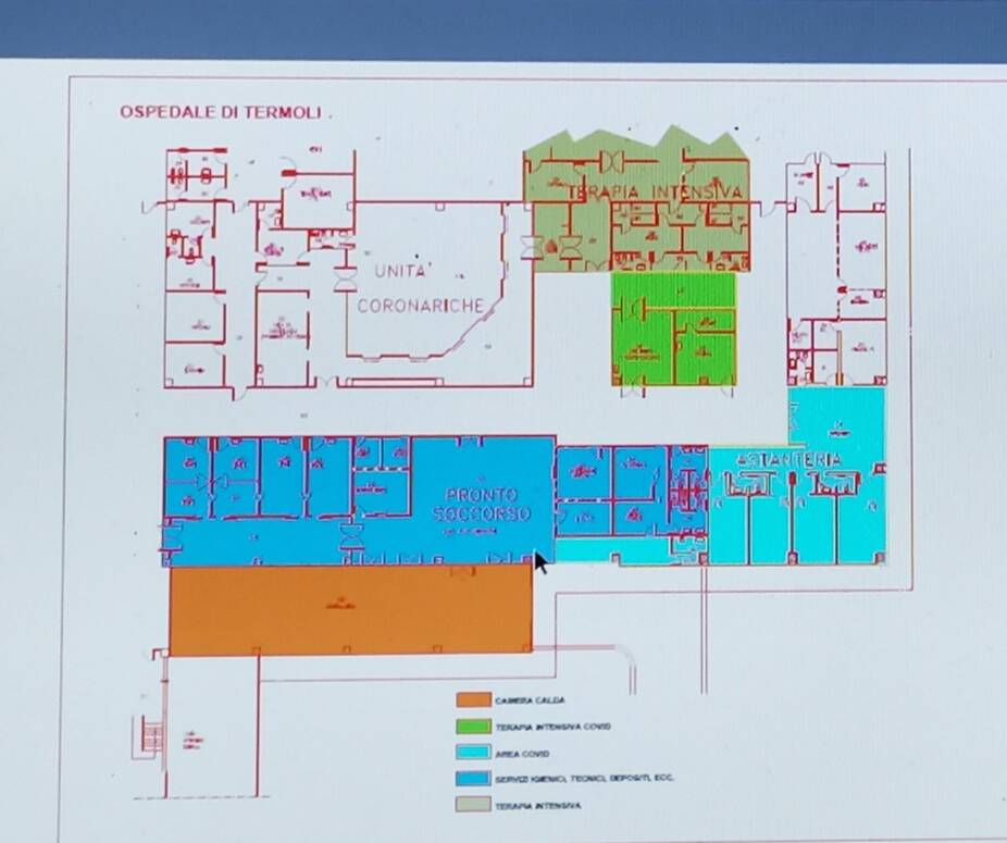 Planimetrie ospedali termoli Isernia Intensive