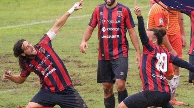 Campobasso Calcio Esultanza Bontà e Esposito