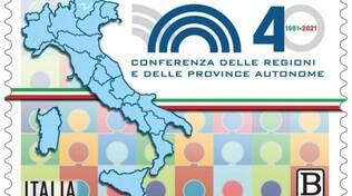 Francobollo 40 anniversario conferenza regioni