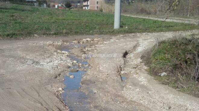 strade di fango Campobasso colle Calcare