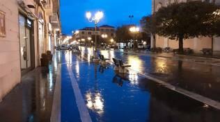 Corso Campobasso sera pioggia