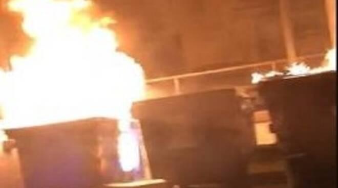 cassonetti immondizia fuoco Campobasso