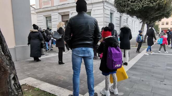 Genitori scuola attesa figli assembramenti Termoli