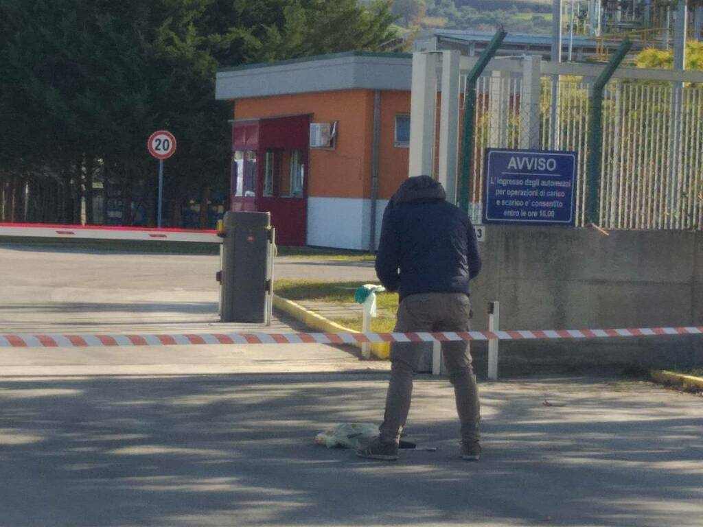Momentive sospetta bomba artificieri polizia Termoli fabbrica vigili del fuoco