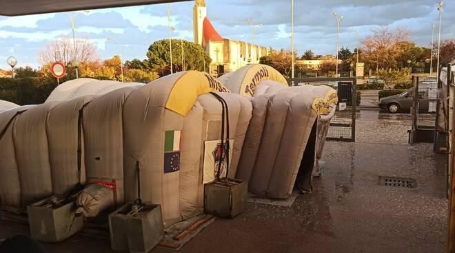 tenda afflosciata ospedale termoli