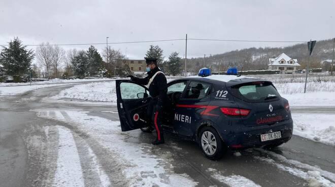 carabinieri neve ghiaccio