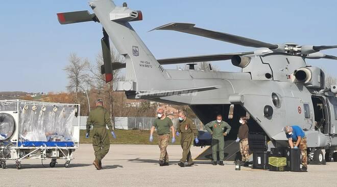 elicottero marina militare covid
