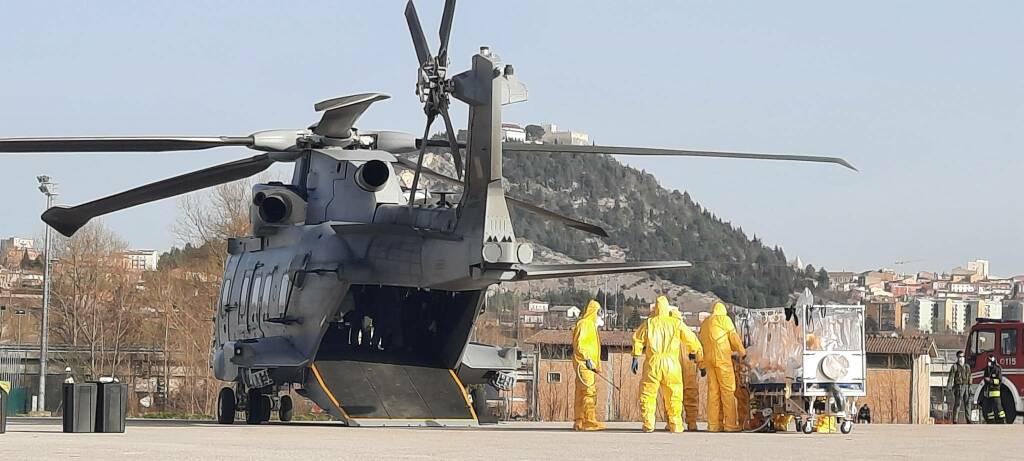 elicottero paziente covid Cb