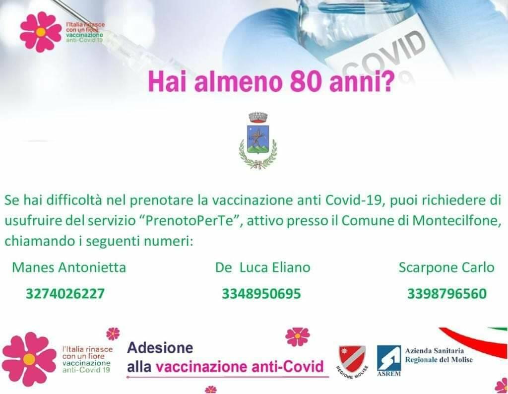 Prenotazione vaccino montecilfone
