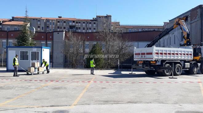 Ospedale Cardarelli lavori per i moduli covid terapia intensiva