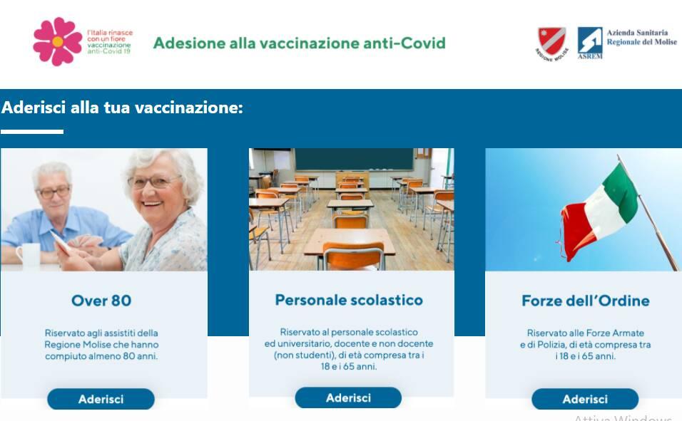 prenotazione vaccini scuola forze ordine