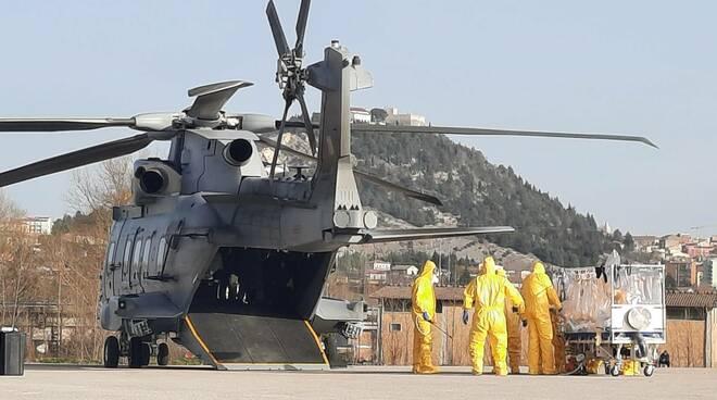 medici militari elicottero cb covid