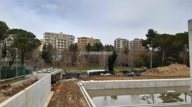 Piscina parco Termoli lavori febbraio 2021