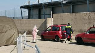 Screening Guglionesi drive in tamponi rapidi croce rossa protezione civile