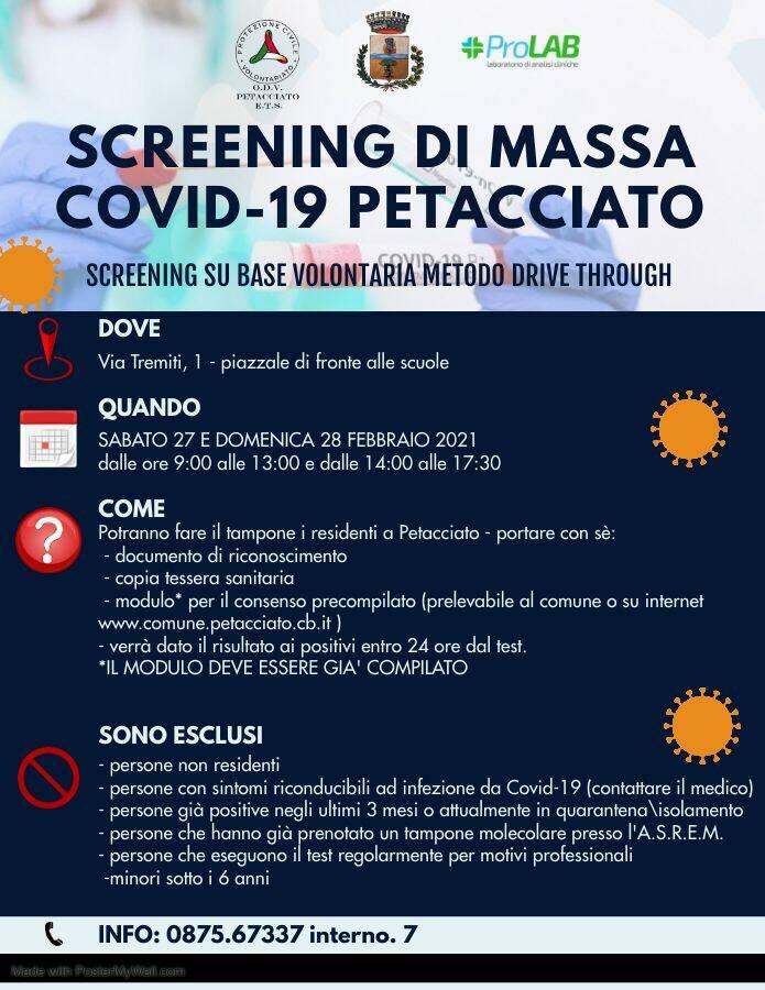 screening locandina petacciato