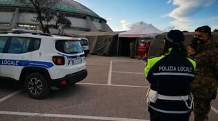 Screening tamponi rapidi antigenici covid campomarino Polizia municipale