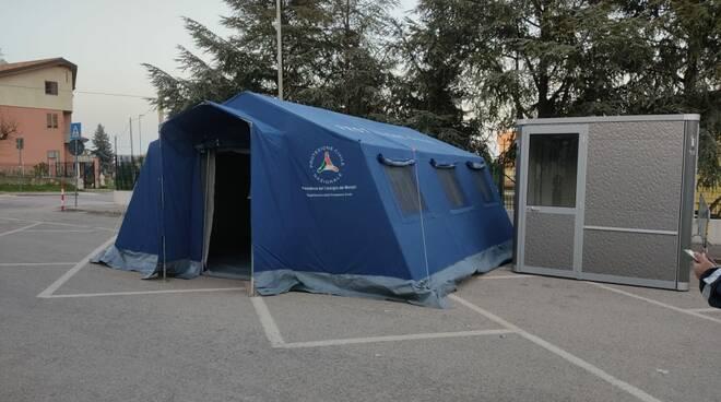 tenda protezione civile screening petacciato