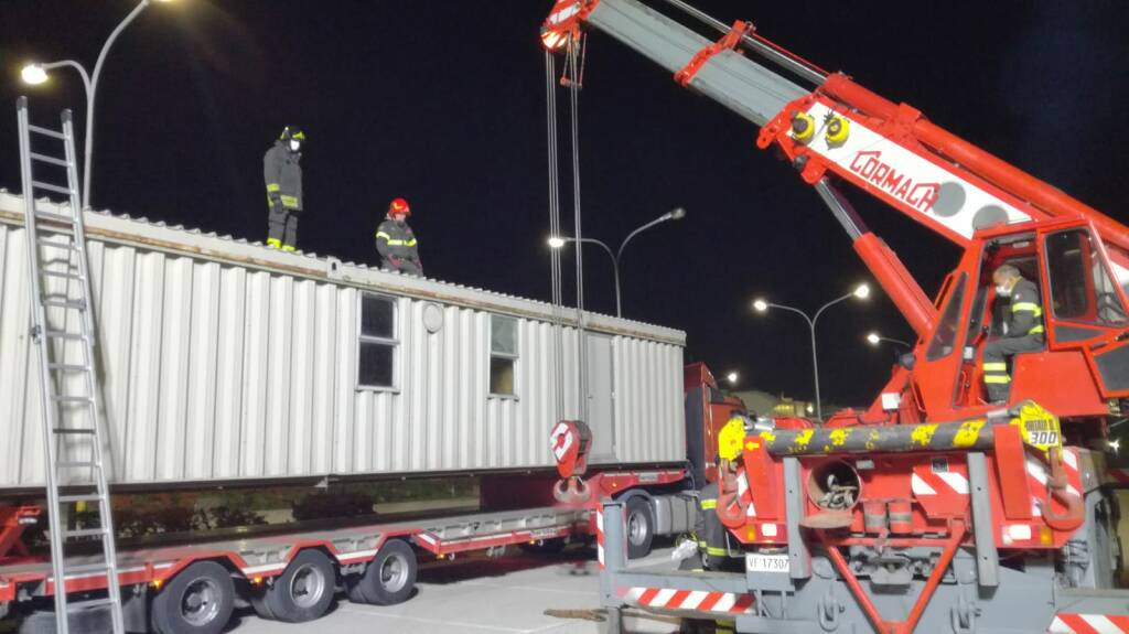 container ospedale san timoteo vigili del fuoco