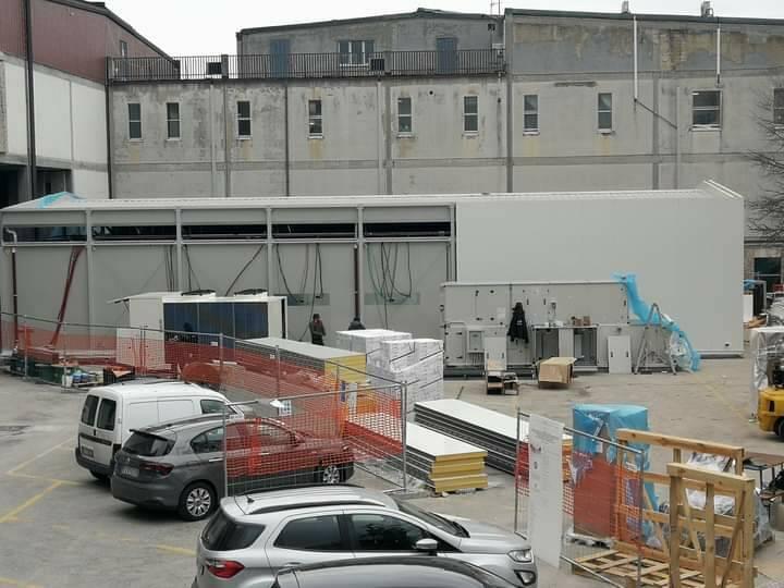 Ospedale Cardarelli Campobasso rianimazione mobile moduli