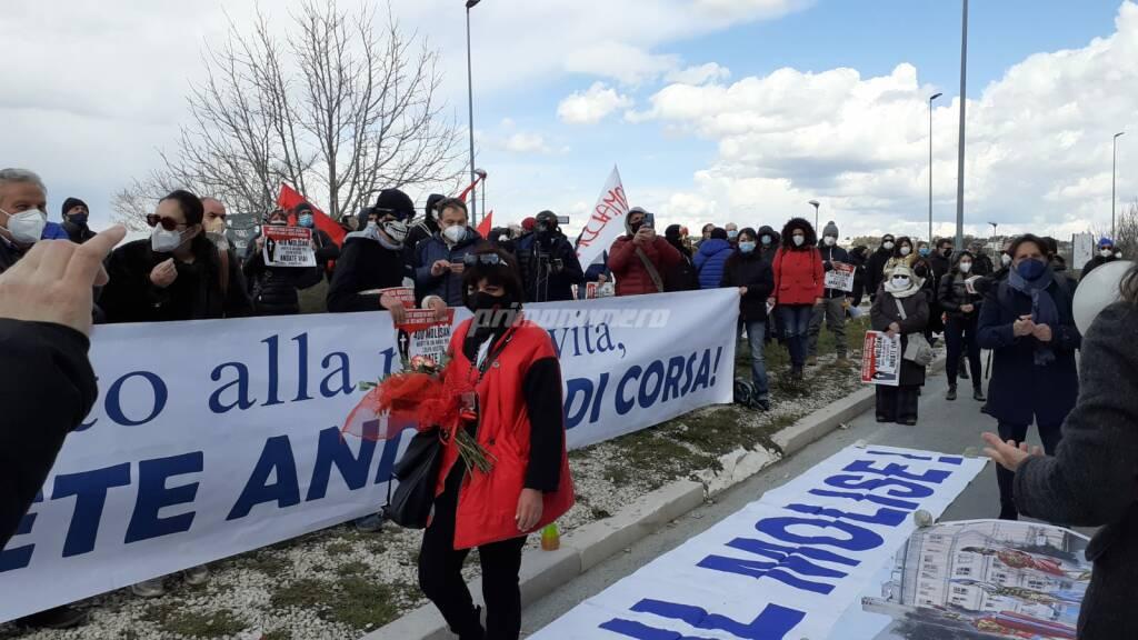 Protesta sanità consiglio regionale Campobasso 16 marzo