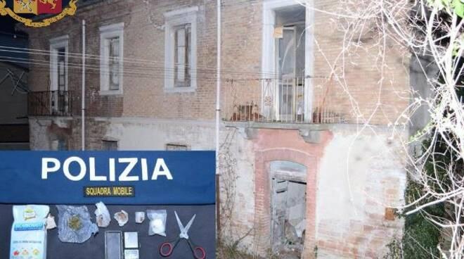 squadra mobile Campobasso arresto droga edificio via Piave centrale spaccio