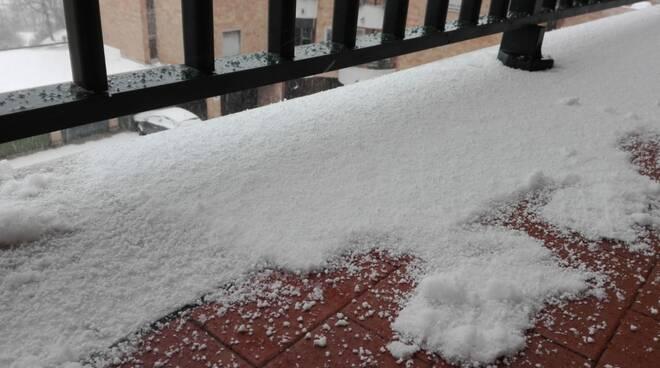 Neve di primavera 23 marzo 2021 Campobasso imbiancata