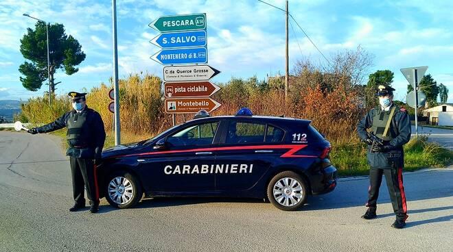 carabinieri montenero posto di blocco