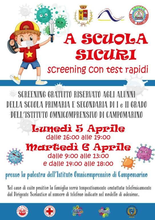 Screening alunni Campomarino