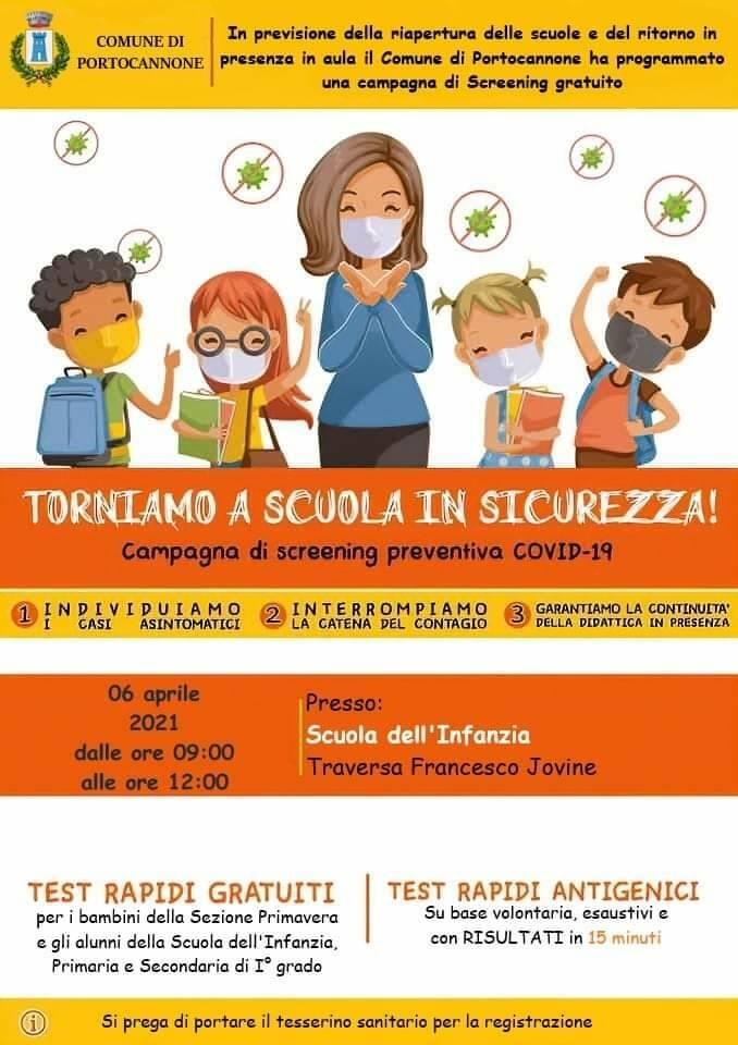 Screening scuola portocannone