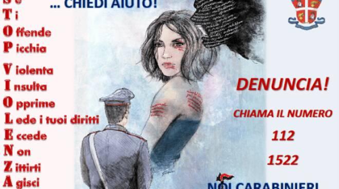 Carabinieri no alla violenza