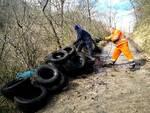 Pneumatici abbandonati acqua zolfa Campobasso Sea ambiente rifiuti