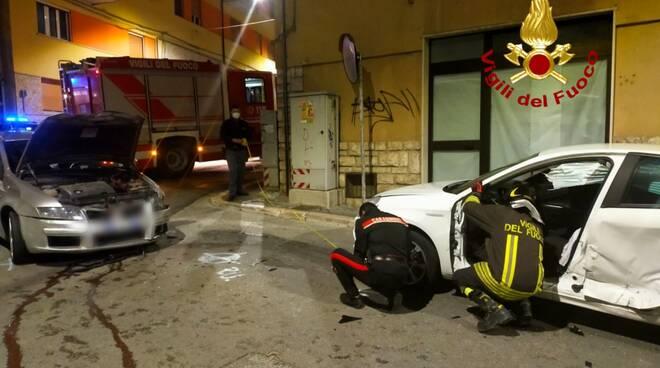 incidente vigili polizia campobasso