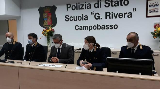 Conferenza presentazione nuovi funzionari Polizia Campobasso