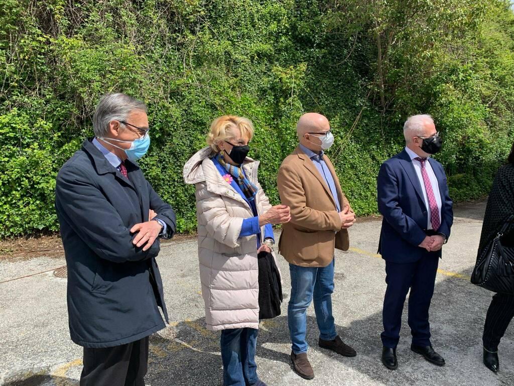 Conferenza stampa moduli terapia intensiva ospedale veneziale Isernia commissario Degrassi Donato Toma Oreste Florenzano