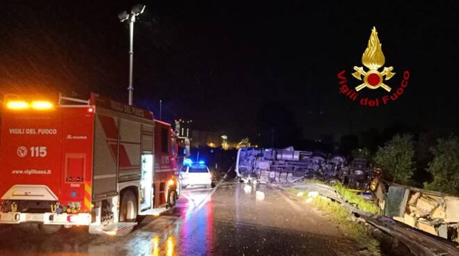 Incidente zuccherificio camion polli