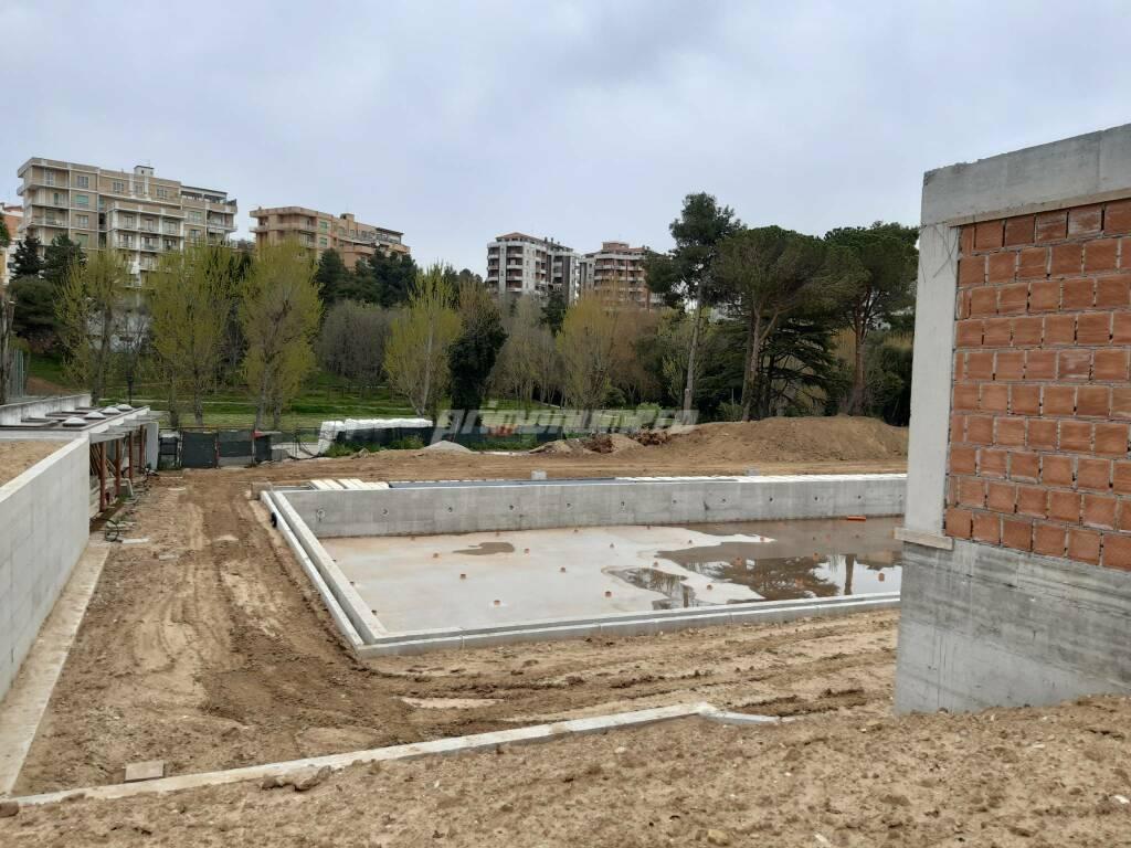 Piscina parco Termoli lavori aprile 2021