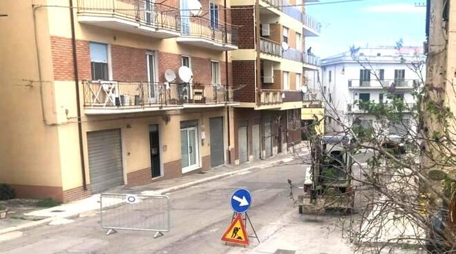 Via Capitano Verri divieto di transito Guglionesi