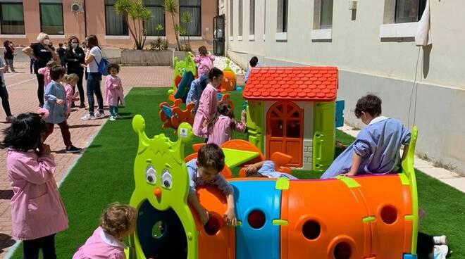 area giochi scuola bernacchia donazione lions host