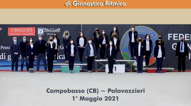 Ginnastica Ritmica, spettacolo a Campobasso a cura dello Sporting Bovianum